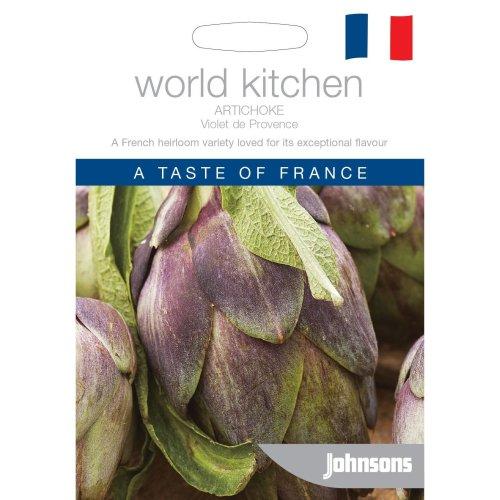 Johnsons World Kitchen Vegetable - Pictorial Pack - Artichoke Violet de Provence - 50 Seeds