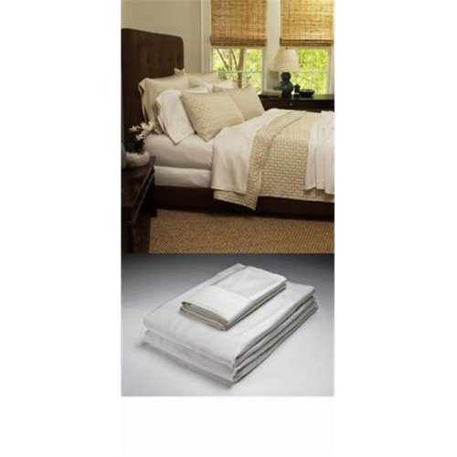 Caro Home 50500QNW01 100 Percent Bamboo Queen Flat Sheet - White