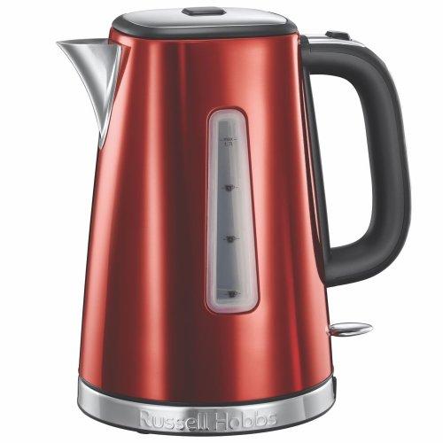 Russell Hobbs 23210 Luna Quiet/Rapid Boil Electric Jug Kettle, 1.7 L 3000W - Red