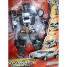 M.A.R.S. Converters Conversion Unit Robot, Accelerator Silver Robot/Sports Car by Cybotronix