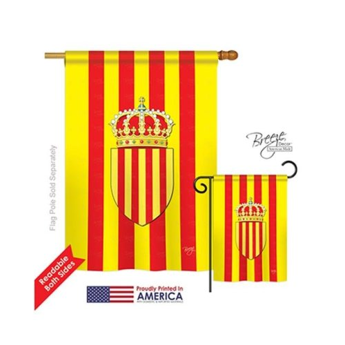 Breeze Decor 08183 Catalonia 2-Sided Vertical Impression House Flag - 28 x 40 in.