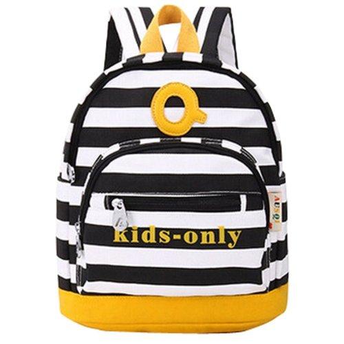 dc5c3f96bae4 New Small fresh Backpack Stripe Cute Backpack BLACK