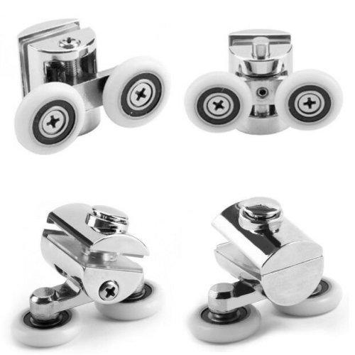 4x 23mm Twin Zinc Alloy Shower Door ROLLERS/Runners/Wheels Top&Bottom Hot