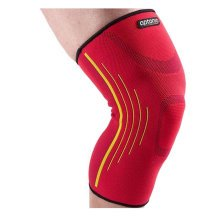 Premium Knee Support Sleeves Brace Pads for Sports Running (Pair) - Red