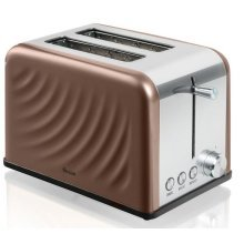 Swan 2Slice Twist Toaster With Browning Control 800 W - Copper (ST19010TWN)
