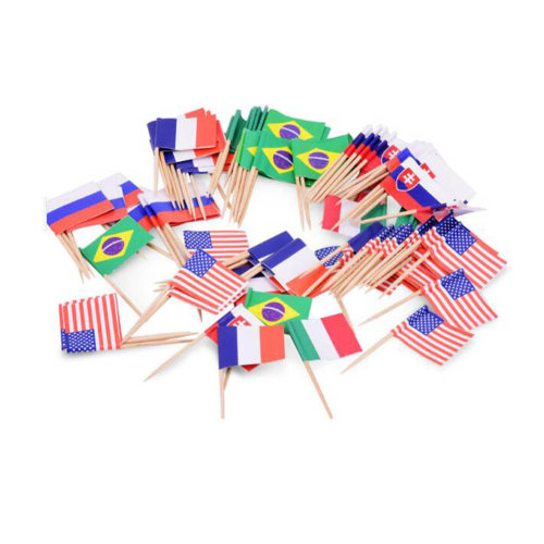 Cocktail Picks Flags Picks Assorted Patterns 200 Counts