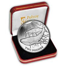 South Georgia 2013 Blue Whale Proof Silver Coin