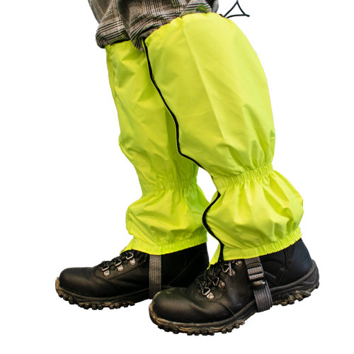 TRIXES Hiking Gaiters - High-Vis Florescent and Water-Proof - Protection for Rain Wind Snow Mud and Insects - One Size