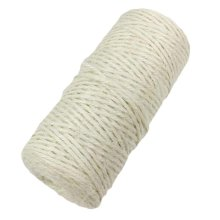 White 2 Rolls x 328 Feet - 2mm Jute Twine Packing Material String Ropes for DIY