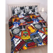 Star Wars Patch Double Duvet Cover Set Polyester