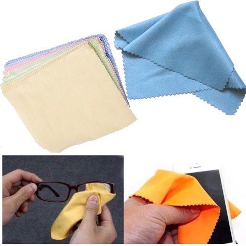 100 Microfiber Cleaner Cleaning Cloth For Phone Camera Lens Glasses