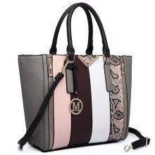 Miss Lulu Women Snake Stripe Handbag Shoulder Bag