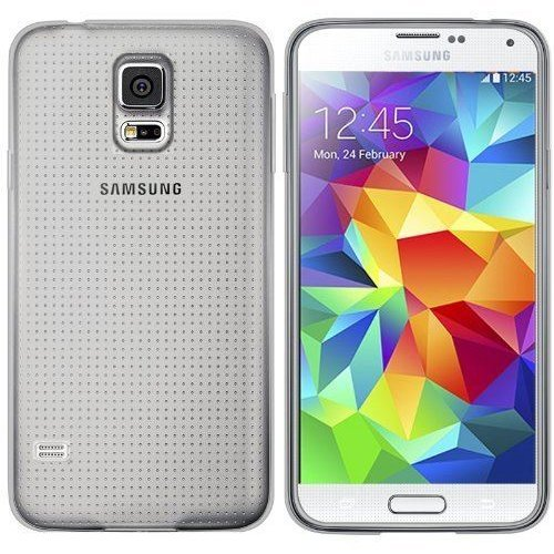 InventCase TPU Gel Case Cover Skin with Screen Protector for Samsung Galaxy S5 2014 - Frosted Clear