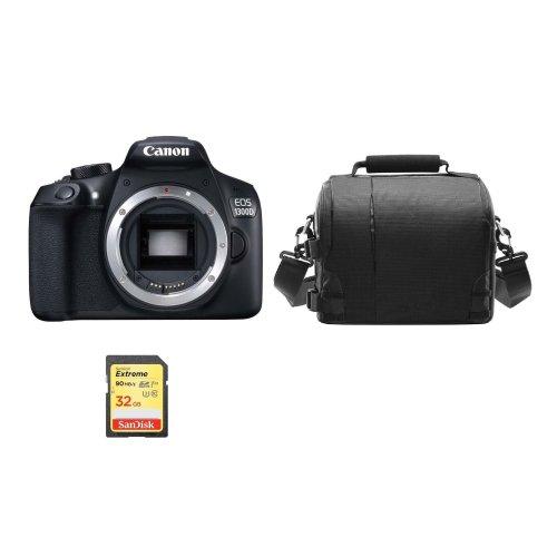 CANON EOS 1300D Body + 32GB SD card + camera Bag