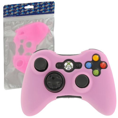 Silicone skin for Xbox 360 controller cover protective case grip pink | ZedLabz