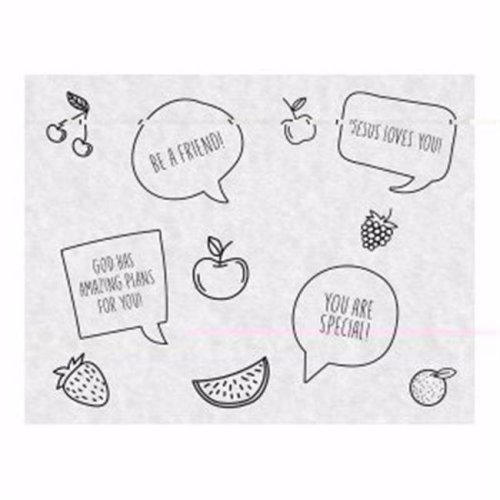 CB Gift 172216 Snack Sheets Just for Kids - Pack of 25