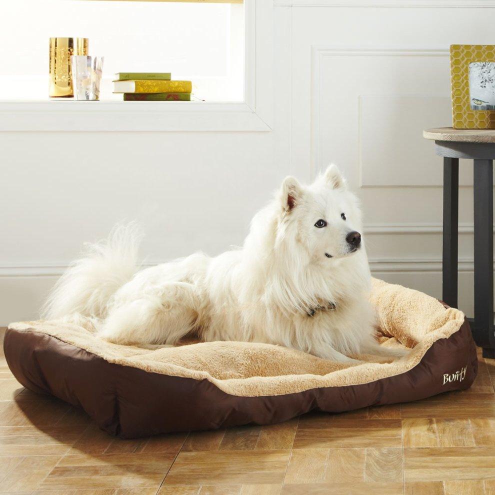 Bunty Deluxe Dog Bed Soft Fleece Pet Bed On Onbuy