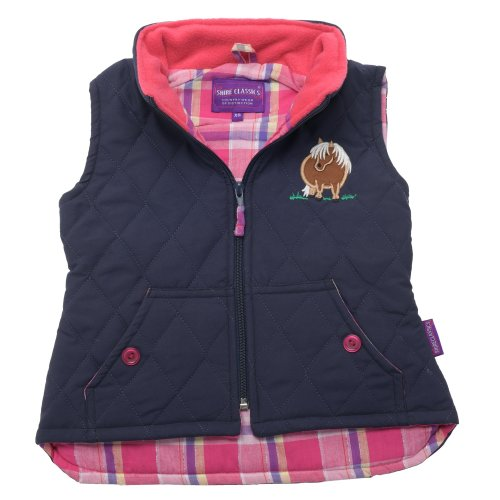 Lambland Girl's Embroidered Pony Gilet Body Warmer