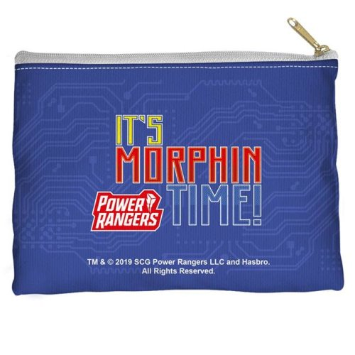 Trevco Sportswear PWR2416-PCH1-12.5x8.5 Power Rangers & Its Morphin Time Accessory Pouch, White - 12.5 x 8.5 in.