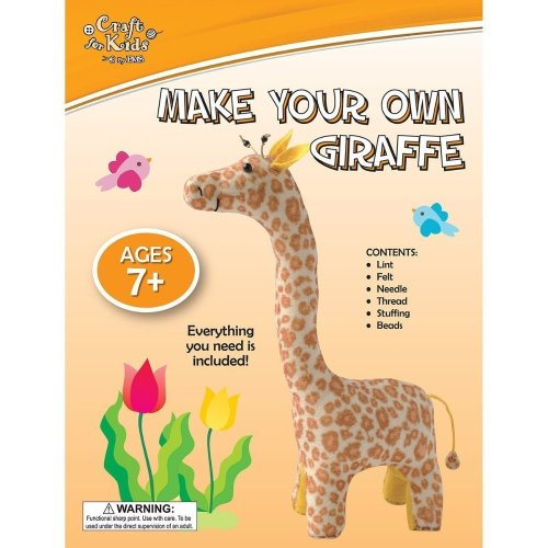 Kids Children Wingo Make Your Own Giraffe Soft Toy Craft Sewing & Stuffing Kit