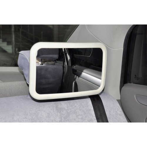 Large Adjustable Wide View Rear/Baby/Child Seat Car Safety Mirror Headrest Mount[White Rear Baby Mirror]