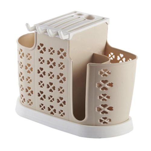 Kitchen Chopsticks Spoons Forks Knife Holder Flatware Drying Rack, Khaki