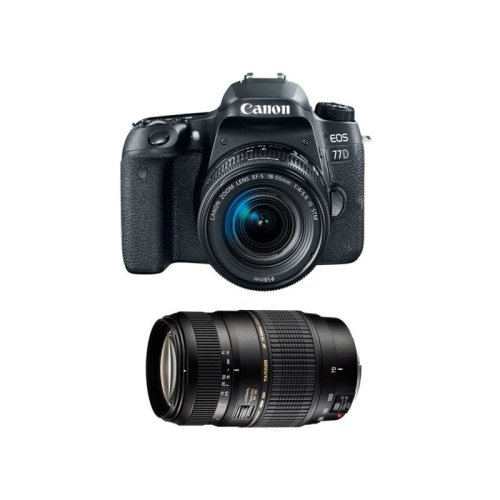 CANON EOS 77D KIT 18-55mm IS STM + TAMRON  70-300mm Di LD (A17E)
