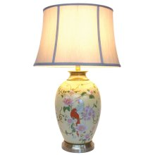 Chinese Table Lamp Parrots (Pair)