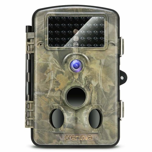 Crenova 2018 Upgraded Trail Camera 12MP 1080P HD Wildlife Camera with 120° Wide Angle 65ft Detection Range 42 Pcs 940nm Updated IR LEDs Night...