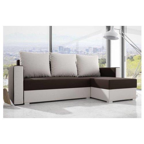 Corner Sofa Bed Madera, Storage, Suedine Fabric