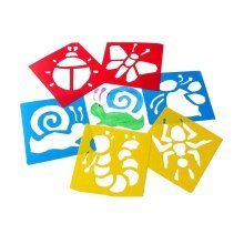 Set of 6 Insects PVC Kids Painting Facsimile Set