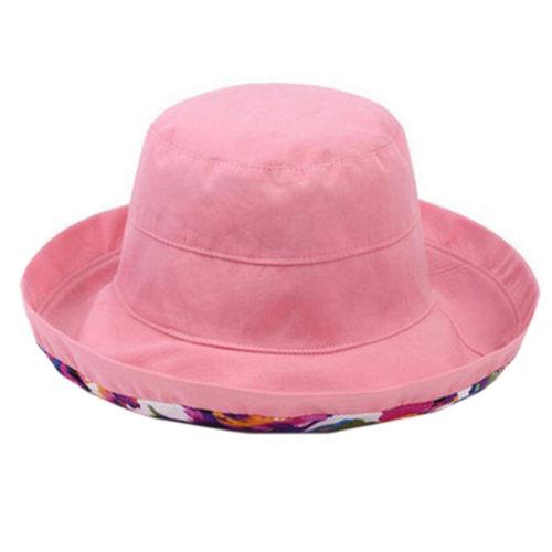 Girls Beautiful Bucket Hat Sun Hat Hiking Fishing Hats Caps, Light Pink