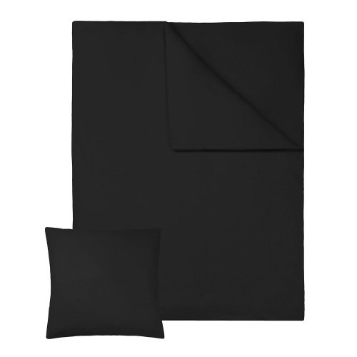 2 bedding sets 200x135cm cotton 2-piece black