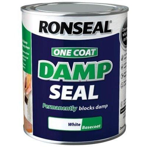 Ronseal OCDSW25L 2.5 Litre One Coat Damp Seal - White