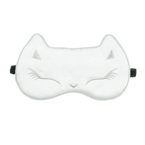 Comfortable Sleep Mask Eye-shade Aid-sleeping Pure silk White Cat