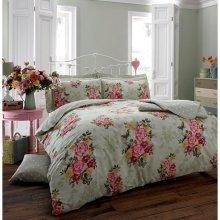 Ava butterfly mint green cotton blend duvet cover