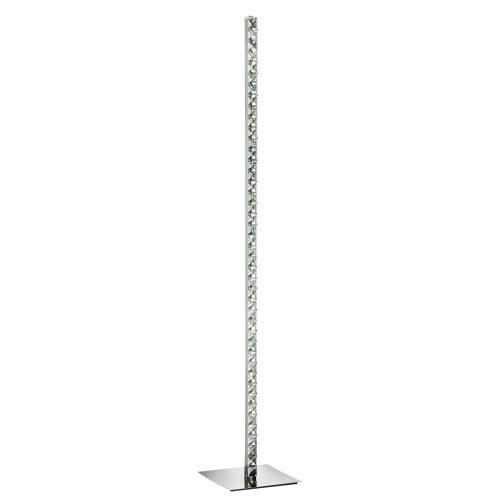 Clear Crystal Trim 5 Light Floor Lamp In Chrome