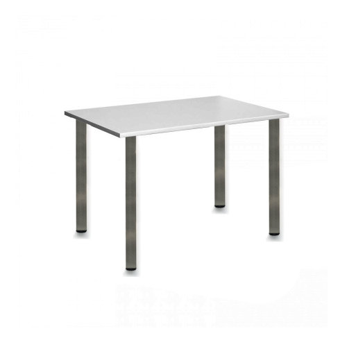 Computer Desk Office Dining Table Workstation Br Chrome Legs Square Gray Top 120x80cm