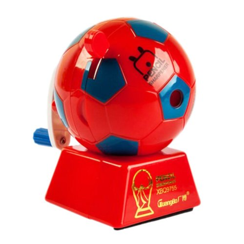 Lovely Office & School Supplies Hand Rotating Pencil Sharpener - Red Football