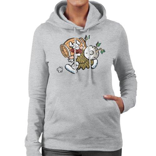 Hagar The Horrible Barrel Run Women's Hooded Sweatshirt