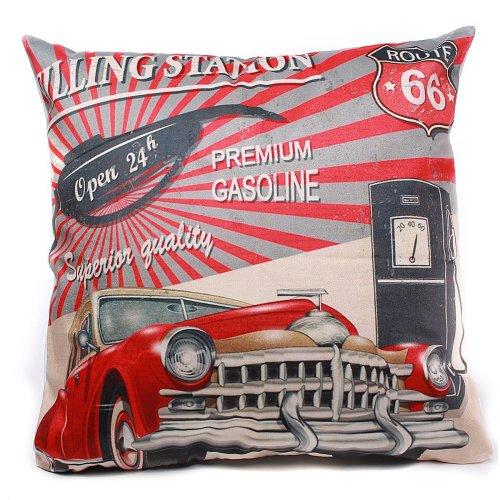 45x45cm Micro-velboa Vintage Car Pillow Case Throw Cushion Cover Home Decor