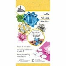 D54-07002 - Ek Success - Handmade Gift Bow Brads & Stickers, 12-ct.
