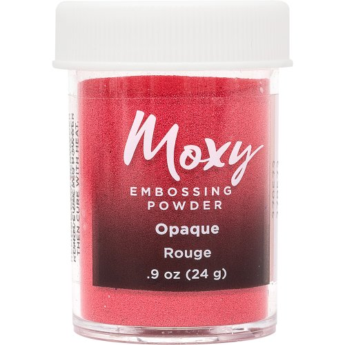 Moxy Opaque Finish Embossing Powder 1oz-Rouge