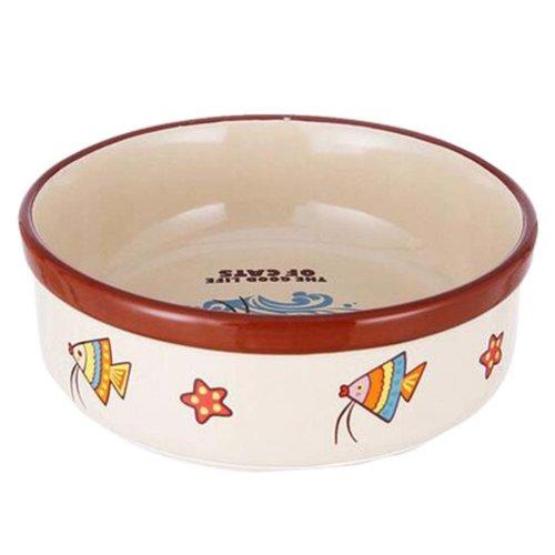 One Little Ceramic Feeding Pot/Pet Bowl/Dog Bowl/Cat Bowl For Food & Water 14x5CM (C#13)