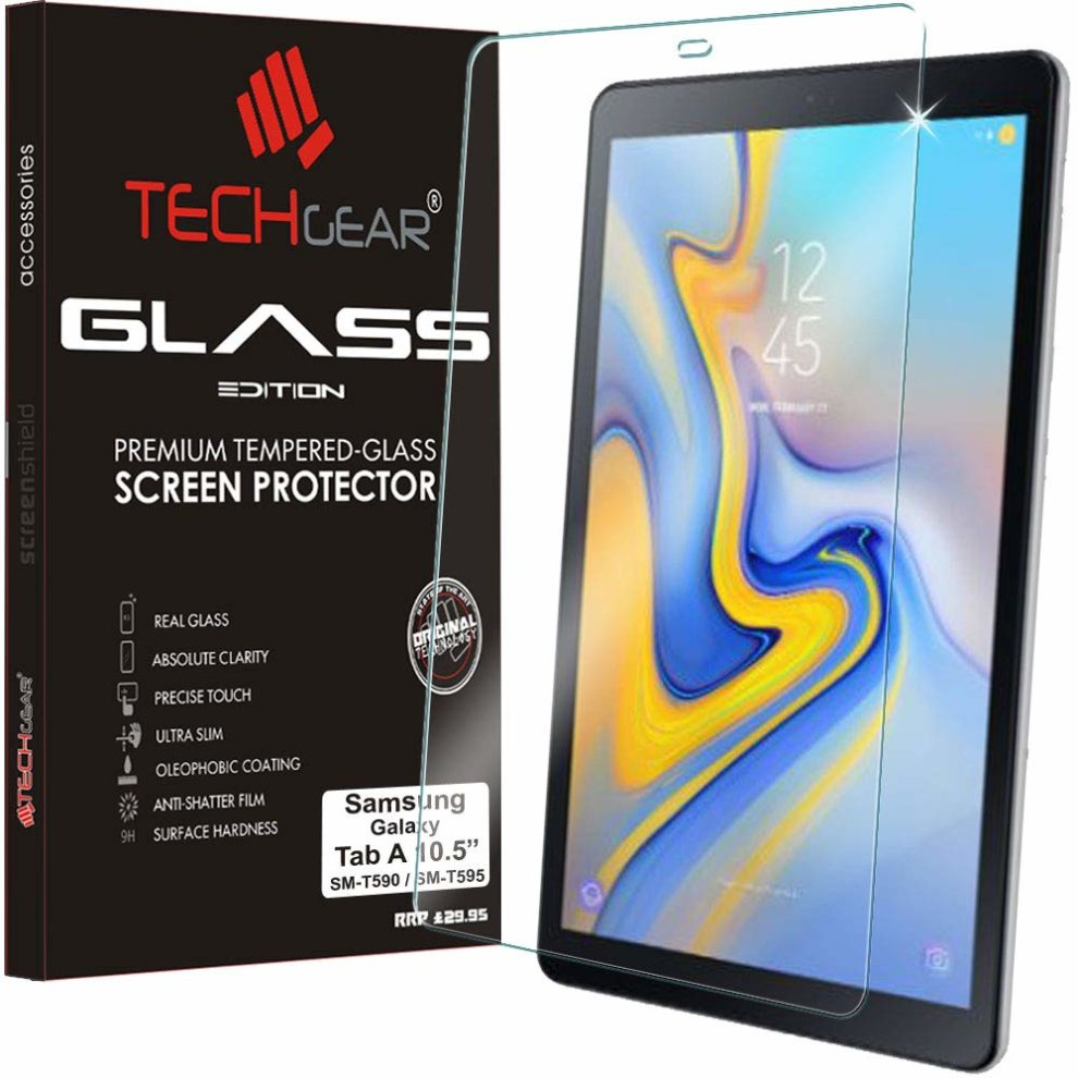 """US 2X Samsung Galaxy Tab A 10.5/"""" 2018 T590 T595 Tempered Glass Screen Protector"""