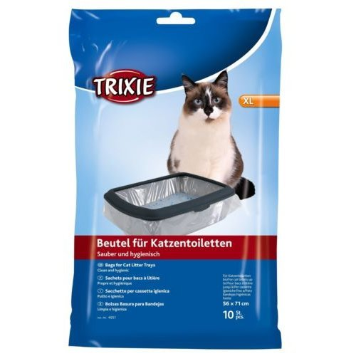 Simple'n'clean Bags For Cat Litter Trays, L: Up To 46 × 59 Cm, 10 Pcs. - Trixie -  litter 10 trixie tray cat bags 46 59 pack bulk liners cm pieces
