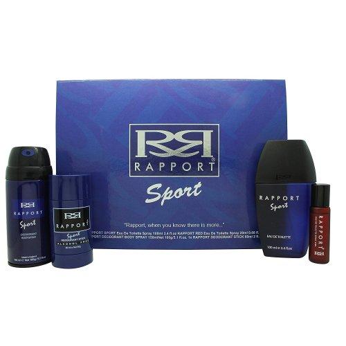Dana Rapport Sport Gift Set 100ml EDT + 150ml A/Shave Balm + 150ml Shower Gel + 20ml Rapport EDT