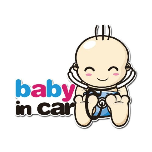 """""""baby in car"""" Caution Car Decal Practical Car Stickers (5.8""""x6.7"""")"""