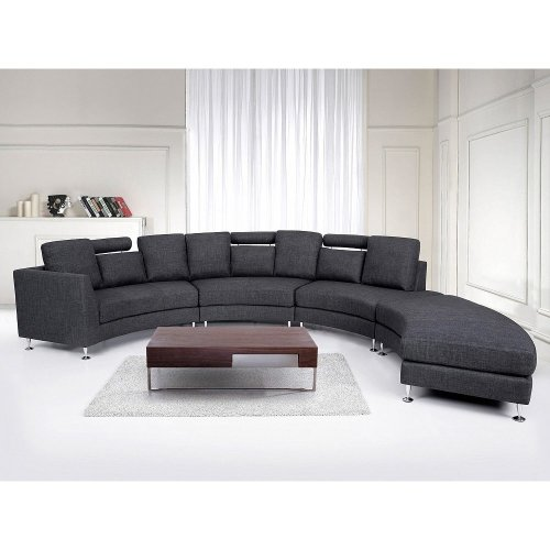 Modern Round Sectional Sofa in Fabric - ROTUNDE