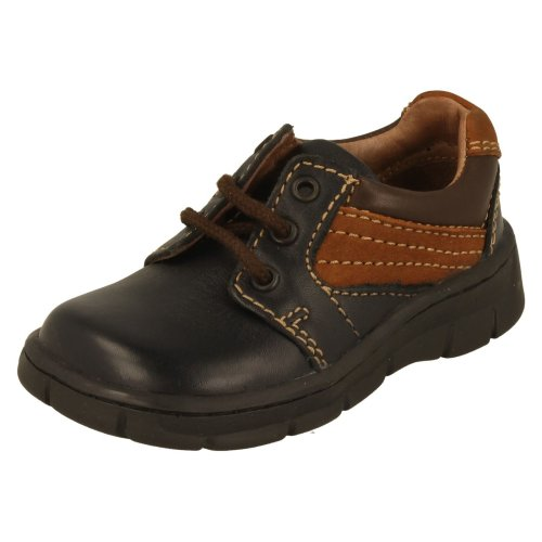 Boys Startrite First Shoes Lextric - Blue/Tan Leather - UK Size 5F - EU Size 21.5 - US Size 6